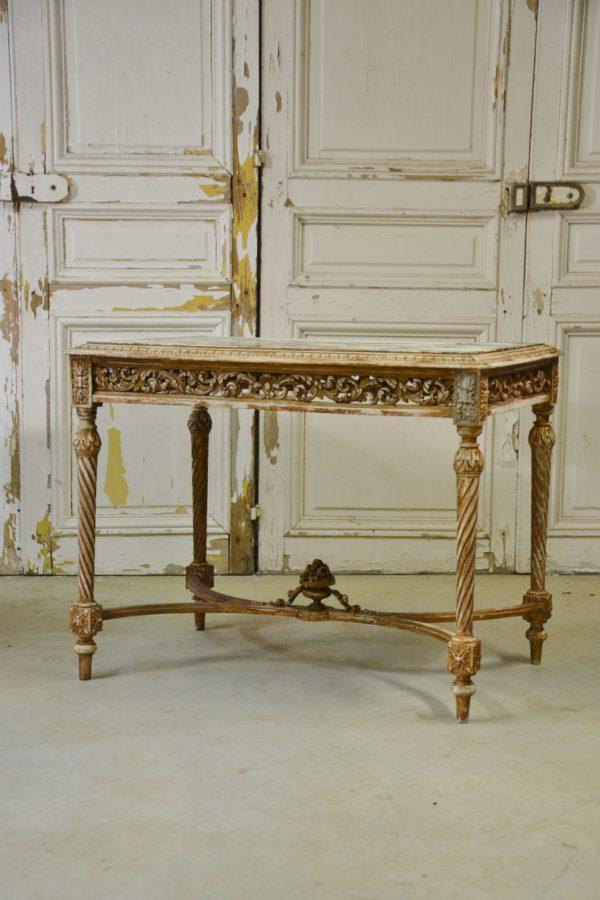 table milieu napoléon III ancienne doré ajouré XIX 19 siècle Rennes brocanteur antiquaire suédois swedish