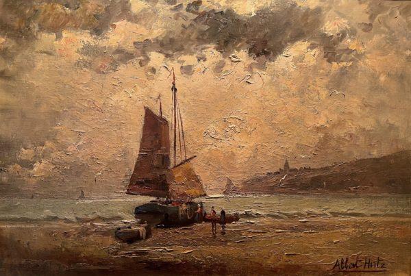 Albert Hirtz Marine tableau huile sur toile xixème xxème