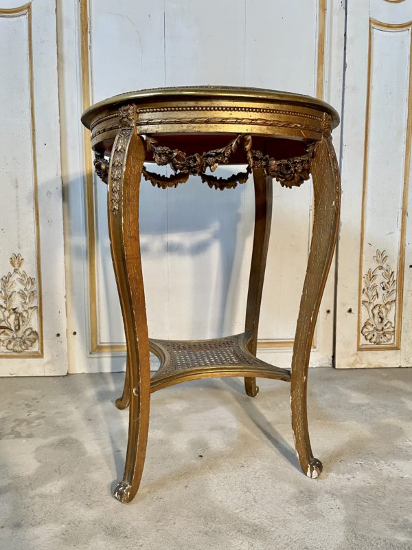 Table de salon doré xixème napoléon III ancienne