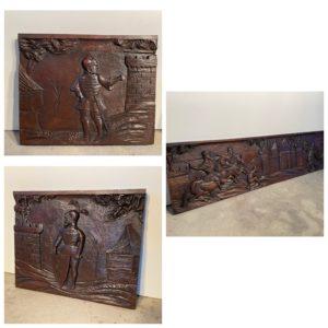 renaissance panneaux sculptés bas relief